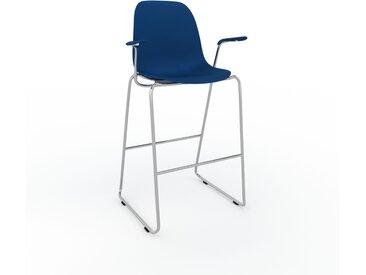 Chaise de bar Bleu nuit de 49 x 112 x 62 cm au design unique, configurable