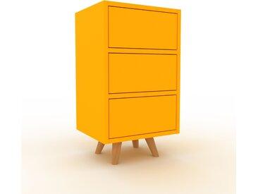 Table de chevet - jaune, contemporaine, table de nuit, avec tiroir jaune - 41 x 72 x 35 cm, modulable