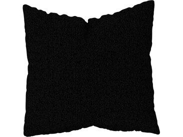 Coussin Noir Nuit - 50x50 cm - Housse en Tissu grossier. Coussin de canapé moelleux