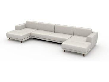 Canapé convertible - Blanc, design épuré, canapé lit confortable, confortable avec coffre de rangement - 408 x 75 x 162 cm, modulable