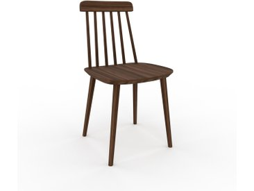Chaise en bois Noyer de 43 x 82 x 44 cm au design unique, configurable