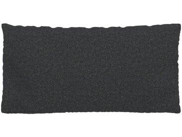 Coussin Anthracite - 40x80 cm - Housse en Laine. Coussin de canapé moelleux