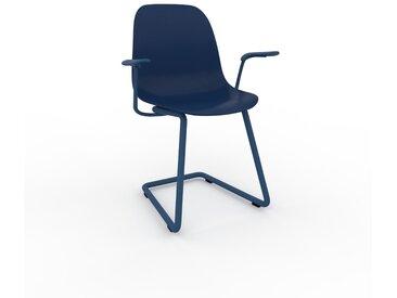 Chaise cantilever Bleu nuit de 49 x 82 x 62 cm au design unique, configurable