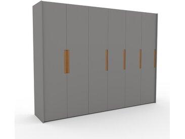 Dressing - Gris, design, armoire penderie pour chambre ou entrée, à portes battantes - 304 x 233 x 62 cm, modulable