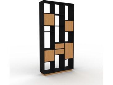 Bibliothèque - Chêne, design contemporain, avec porte Chêne et tiroir Chêne - 118 x 239 x 35 cm