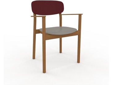 Chaise avec accoudoirs Gris sable de 52 x 82 x 58 cm au design unique, configurable