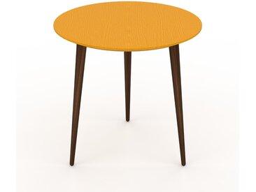 Table basse - Jaune, ronde, design scandinave, petite table pour salon élégante - 50 x 50 x 50 cm, personnalisable