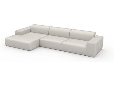 Canapé convertible - Blanc, design arrondi, canapé lit confortable, moelleux et lit confortable - 368 x 72 x 168 cm, modulable