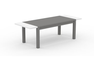 Table à manger extensible - Gris, moderne, pour salle à manger ou cuisine, avec deux rallonges - 240 x 76 x 90 cm, personnalisable