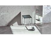Table basse en Verre fumé transparent, design industriel, bout de canapé raffiné - 42 x 71 x 42 cm, personnalisable