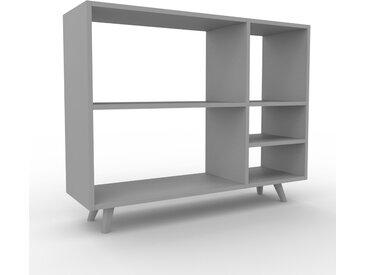 Bibliothèque - Gris, design, étagère pour livres, sophistiquée, ouverte et fonctionelle - 116 x 91 x 35 cm, personnalisable