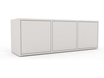 Caisson à roulette - Blanc, pièce modulable, rangement mobile, avec porte Blanc - 118 x 41 x 35 cm