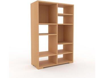 Bibliothèque - Hêtre, design, étagère pour livres, sophistiquée, ouverte et fonctionelle - 79 x 120 x 35 cm, personnalisable