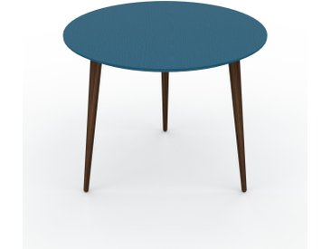 Table basse - Bleu, ronde, design scandinave, petite table pour salon élégante - 60 x 47 x 60 cm, personnalisable