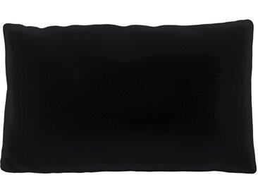 Coussin Noir - 30x50 cm - Housse en Velours. Coussin de canapé moelleux