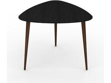 Table basse - Wengé, triangulaire, design scandinave, petite table pour salon élégante - 59 x 50 x 61 cm, personnalisable