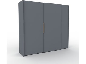 Dressing - Anthracite, design, armoire penderie pour chambre ou entrée, haut de gamme, avec portes coulissantes - 254 x 233 x 65 cm, modulable