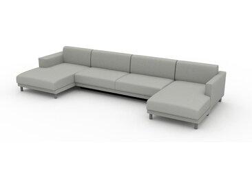 Canapé convertible - Gris Clair, design épuré, canapé lit confortable, confortable avec coffre de rangement - 396 x 75 x 162 cm, modulable