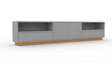 Buffet bas - Gris, design contemporain, avec porte Gris et tiroir Gris - 226 x 47 x 35 cm