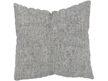Coussin Gris Gravier - 50x50 cm - Housse en Laine chinée. Coussin de canapé moelleux