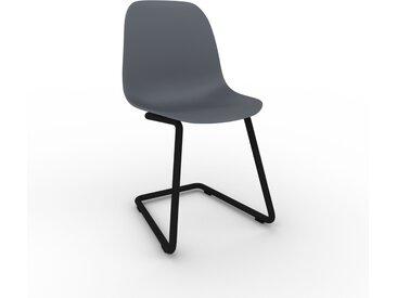 Chaise cantilever anthracite de 49 x 82 x 44 cm au design unique, configurable