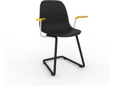 Chaise avec accoudoirs noir de 49 x 82 x 62 cm au design unique, configurable