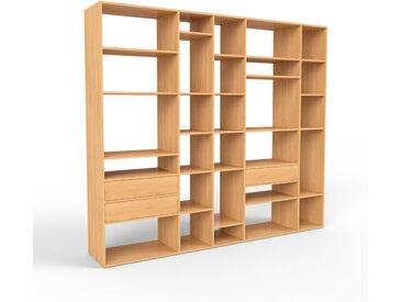 Système d'étagère en hêtre, bois massif, design, rangements de qualité, pratique et flexible - 267 x 233 x 47 cm, personnalisable