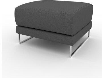 Pouf - Anthracite, design épuré, 60 x 42 x 60 cm, modulable