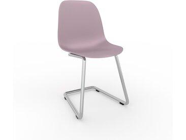 Chaise cantilever Rose poudré de 49 x 82 x 44 cm au design unique, configurable