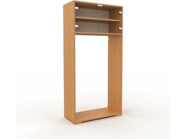 Vitrine - Verre clair transparent, moderne, pour documents, avec porte Verre clair transparent - 77 x 158 x 35 cm, personnalisable