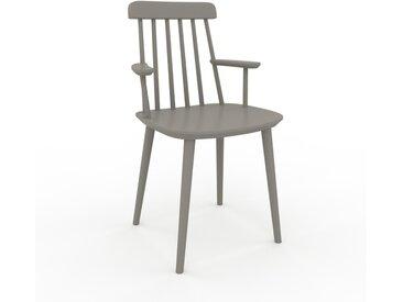Chaise avec accoudoirs Gris sable de 43 x 82 x 53 cm au design unique, configurable
