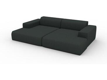 Canapé en U - Anthracite, design arrondi, canapé d'angle panoramique, grand, bas et confortable - 270 x 72 x 168 cm, modulable