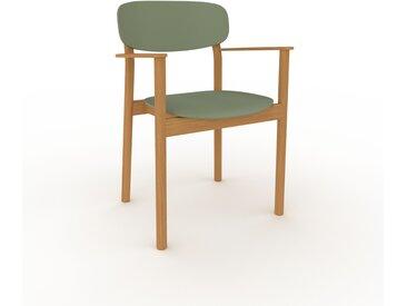 Chaise avec accoudoirs Vert de gris de 52 x 82 x 58 cm au design unique, configurable