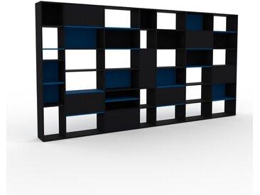 Système d'étagère - Noir, modulable, rangements, avec porte Noir - 452 x 233 x 35 cm