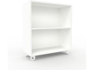 Caisson à roulette - Blanc, design, rangement mobile raffiné, pratique - 77 x 87 x 35 cm, modulable