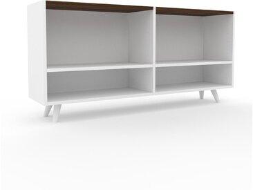 Range CD - Blanc, design contemporain, meuble pour vinyles, DVD - 152 x 72 x 35 cm, personnalisable