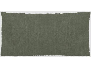 Coussin Vert Olive - 40x80 cm - Housse en Textile tissé. Coussin de canapé moelleux