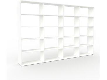 Bibliothèque - Blanc, design, étagère pour livres, sophistiquée, ouverte et fonctionelle - 301 x 195 x 35 cm, personnalisable