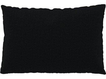 Coussin Anthracite - 40x60 cm - Housse en Laine. Coussin de canapé moelleux