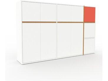 Buffet - Blanc, pièce modulable, enfilade, avec porte Blanc - 190 x 118 x 35 cm