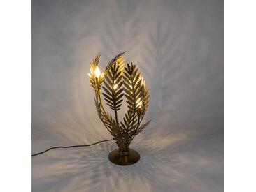 Lampe de table vintage large dorée - Botanica