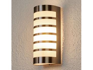 Lampe d'extérieur semi-circulaire moderne en acier inoxydable IP44 - Alvin