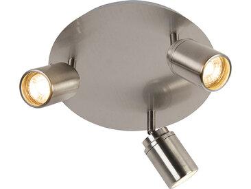 Spot de salle de bain moderne en acier 3 lumières IP44 - Ducha