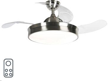 Ventilateur de plafond en acier avec LED et télécommande - Xiro