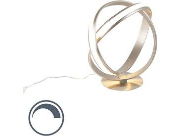 Lampe de table moderne en acier incl. LED - Belinda