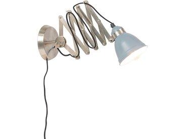 Lampe à ciseaux murale industrielle acier tellable - Avera