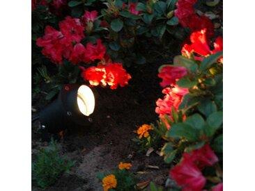 Spot de jardin noir avec cordon et fiche IP65 - Done