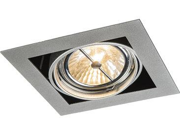 Spot à encastrer carré en aluminium réglable à 1 lumière - Oneon 111-1