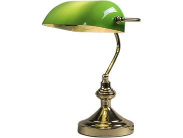 Lampe de notaire Banker doré/vert