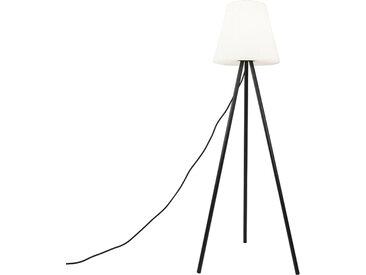 Lampe d'extérieur moderne noire avec abat-jour blanc IP65 - Virginie